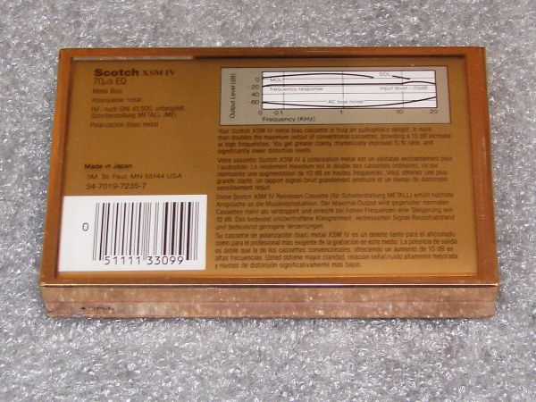Аудиокассета Scotch XSMIV 60 (US) (1987 - 1989 г.)