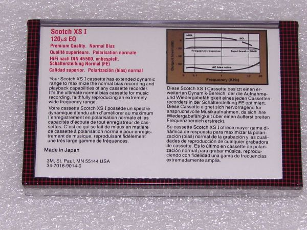 Аудиокассета Scotch XSI 90 (US) (1982 - 1986 г.)
