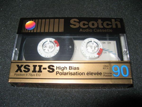 Аудиокассета Scotch XSII-S 90 (US) (1990 - 1993 г.)